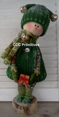 Sammy Primitive Snowman Handmade Primitive by CCCPrimitives