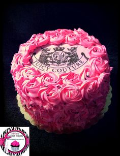 Rosette Juicy Couture Cake  #glitterinjuicy #givemewhatiwant