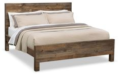 Bedroom Furniture - Rancho Queen Bed - Pine