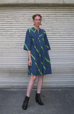 vintage 1970s Marimekko dress / Maija Isola 'Basso' design / via Dronning Vintage