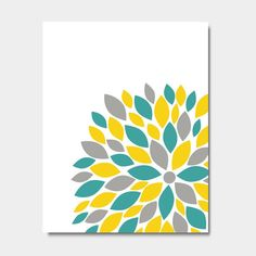 Teal Yellow Grey On Pinterest Teal Yellow Modern Condo