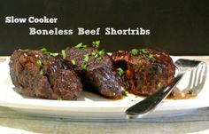 Red wine gives a deep, dark color and flavor, and fall-off-the-bone tenderness in thesesucculent Slow Cooker Boneless Beef Short Ribs. Slow Cooker Boneless Beef Short Ribs  Author:Marlene Baird Prep time: 15 mins Cook time: 8 hours Total time: 8 … Read More...