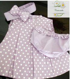 Camomila Moda Bebe  Vestido Poa Lilas