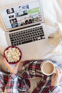 pyjamas, netflix and popcorn. super cosy!