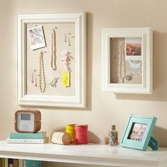 Frames used for hanging jewelry, brilliant!