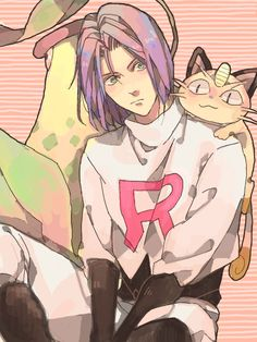 He looks adorable in this art style! Despite being Team Rocket, James is a real sweetie.