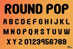 Round Pop Font by Gomarice Font (Free) Fun Fonts, Cool Fonts, Font Free, Sans Serif Fonts, Pop, Nice Fonts, Popular, Pop Music