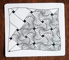Paradox and W2. Fascinating. #zentangle