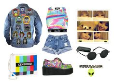 """""""Untitled #321"""" by mishimaqueen ❤ liked on Polyvore featuring Street Level, mark. and Paul Frank"""