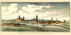 Panorama van de stad Nijmegen. Mathias Merian 1593-1650