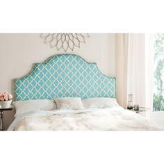 Safavieh MCR4680P Hallmar Blue and White Arched Headboard