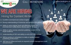 We are #Hiring for #ContentWriter in Noida !  http://ncrjobs.in/jobs-details.php/11253/Content+Writer+for+Noida+Location