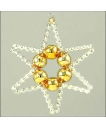 Basic Star Ornament Glass Bead Project Kit ~ Gold and Silver  ~ Czech Republic