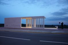 intercity bus stop shelter | Mercedes López | Archinect