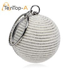 Best Price Women s Pearl Bag Pearl Beaded Diamond Tellurion Evening Bag Bridal Wedding Round Ball
