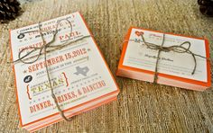 Wedding Invitation : Rustic and Whimsical State. $2.00, via Etsy.