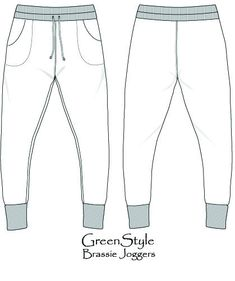 Brassie Joggers PDF #Sewing Pattern – GreenStyleCreations
