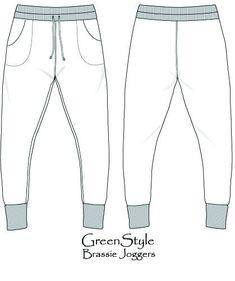 Brassie Joggers PDF #Sewing Pattern – GreenStyleCreations