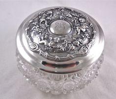 Art Nouveau Silver Powder Jar...circa 1908