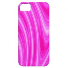 Pretty Pink and White Fractal Pattern iPhone 5 Covers