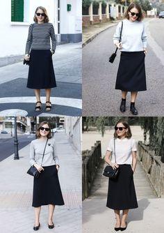 Trini | Cos navy midi skirt