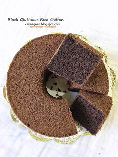Cuisine Paradise   Singapore Food Blog - Recipes - Food Reviews - Travel: 5 Assorted Chiffon Cakes Recipes plus A Demo Clip And Giveaway - Black Glutinous Rice Chiffon Cake