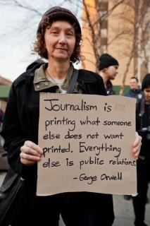 TRUTH Journalism is printing what someone else does not want printed. Everything else is public relations. George Orwell --- Sounds like 'the obama liberal media PR machine. Journalism is dead in liberal media. Great Quotes, Me Quotes, Inspirational Quotes, Meaningful Quotes, Motivational Quotes, Public Relations, Public Service, Decir No, Quotations
