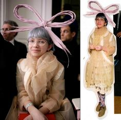 FEBRUARY 10, 2010, Paris Fashion Week, The Infamous bow, Tavi Writing about it (image from later post)