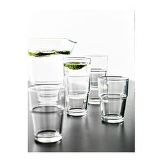 IKEA - REKO, Glass, Can be stacked inside one another to save space in your cabinets when not in use.