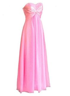 Amazon.com: Faironly Pink B23 Strapless Chiffon Evening Party Bridesmaids Dresses: Clothing