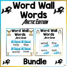 Word Wall Words Arctic ThemeThese word wall word cards arctic theme in this 400-page packet will add a fun and bright focus in your classroom. The download contains the first 400 words from Fry's high-frequency list.Check out our other Word Wall Words. Click below.Word Walls...