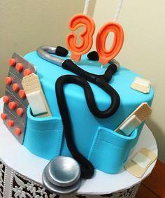 Nursing cake! #nurse #nursingcake #30 #birthdaycake #cakestagram #completelyedible #bolodeenfermeira  Nursing Graduation Cakes, Birthday Cakes, Cake Ideas, 30th, Instagram Posts, Anniversary Cakes, Birthday Cake, Birthday Cookies