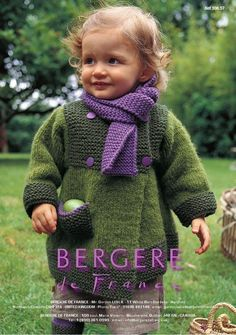 Bergere de France - 106.57 - Coat, Scarf, and Leg-Warmers (6 months - 4 years)