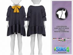 Baby photography harry potter children New Ideas Sims 4 Toddler Clothes, Sims 4 Mods Clothes, Sims 4 Cc Kids Clothing, Toddler Dress, Toddler Outfits, Kids Outfits, Children Clothing, Toddler Fashion, Toddler Girls