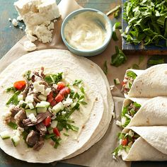 Watching your waste line? Try this healthy recipe for Slow Cooker Greek Lamb Wraps. #CrockPot #SlowCooker #recipe #healthy