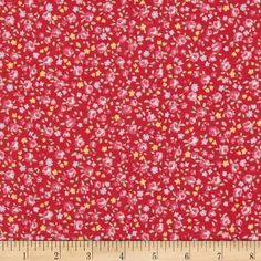 Lecien Petite Fleur Calico Red from @fabricdotcom  Designed by Lecien, this cotton print fabric is perfect for quilting, apparel and home decor accents. Colors include red, shades of pink, green, yellow and lavender.
