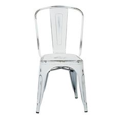 Bristow Antique White Armless Chair, Set Of 4 Office Star Products Side Chairs Dining Chai