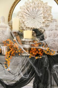 The Fancy Shack: Halloween Chic Mantle & Vintage Market Days