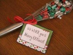 What a sweet little idea for a small gift or throw in a kitchen Christmas gift basket!!