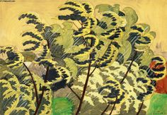 Autumnal Wind and Rain, Charles Ephraim Burchfield Watercolor Artists, Watercolor And Ink, Watercolor Paintings, Painting Art, Watercolors, Great Paintings, Landscape Paintings, Walking In The Rain, Wind And Rain