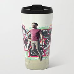 Hipster Abduction Travel Mug by theothererre