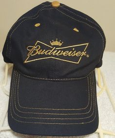 HTF 2005 Budweiser Cap Hat Adjustable Official Product Anheuser-Busch Black  Gold fe604b3cda06