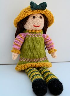 Tulip - A Spring Doll - Beginners Knitting Pattern
