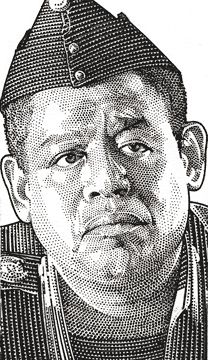 Wall Street Journal portrait (hedcut) of Forrest Whitaker