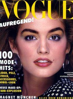 Vogue Germany September 1986 - Cindy Crawford
