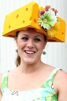 Wait, wrong event. This fan adds some flowers to the cheese head hat for the derby, obviously supporting her football team in a subtle way!        Credit: James Squire, Getty Images                    Wait, wrong event. This fan adds some flowers to the cheese head hat for the derby, obviously supporting her football team in a subtle way!        Credit: James Squire, Getty Images - via StyleList