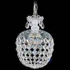"Schonbek Olde World 8"" Swarovski Crystal Mini Pendant Light -"