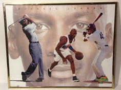 "Michael Jordan SPACE JAM Framed Poster 16"" x 20""  VERY RARE '96"