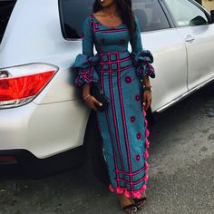 Check Out This Stylish Ankara Long Gown Styles for Slim Ladies - DeZango Fashion Zone