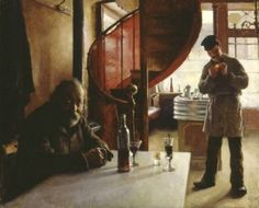 French Wine Bar - Eero Järnefelt , 1888 Finnish, oil paint on canvas, 61 x 74 cm Hd Wallpaper, European Art, Art Painting, Painter, Art Masters, Painting, Art, Art History, Inspirational Artwork